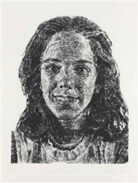 georgia/fingerprint i by chuck close