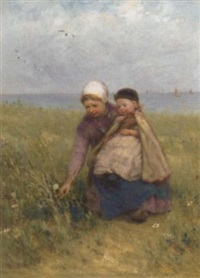 gathering wild flowers by edith hume