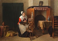 the spinning wheel by sipke (cornelis) kool