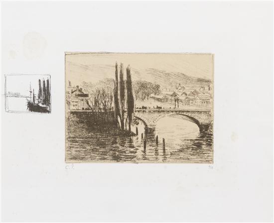 le pont corneille rive gauche by camille pissarro
