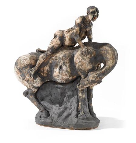 uomo con cavallo by agenore fabbri