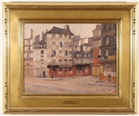 street in paris by alfred gunnar bjareby