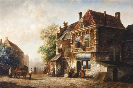 street scene by m gabriel