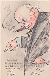 caricatures (18 works) by ferdinand bac