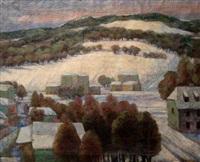 snowy landscape by maurycy apfelbaum