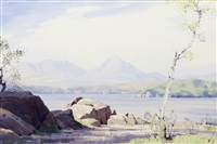 the rocky shores of coniston by william heaton cooper