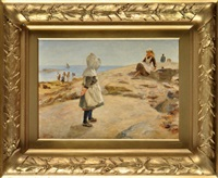 fishergirls at cullercoats by robert jobling