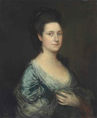 portrait of lady blackstone, bust-length by thomas gainsborough