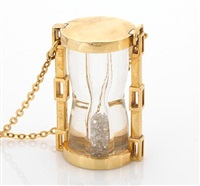 a hour-glass pendant-necklace by mobell jewellry (co.)