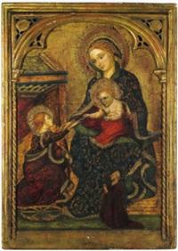 lo sposalizio mistico di santa caterina by jacobello del fiore