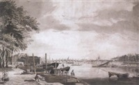 a view of westminster bridge from millbank by james miller