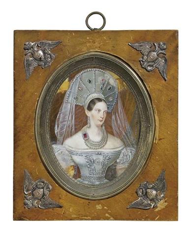 portrait of empress alexandra feodorovna by franz krüger