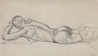 male nude, prostrate by paul cadmus