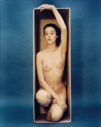 in the box--vertical (color) by ruth bernhard