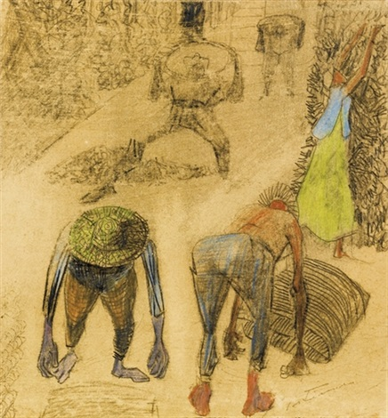 untitled coffee pickers by candido portinari