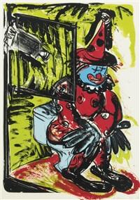 clown taking a shit (castelli, lorence, monk & young 56) by bruce nauman