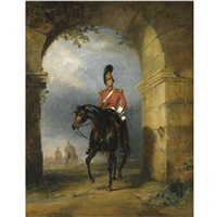 portrait of an officer of dragoon guards by george henry laporte