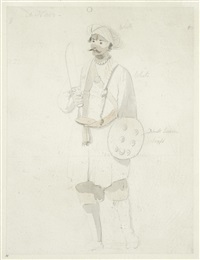 a standing soldier (+ 2 others; 3 works) by thomas daniell