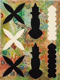 composition with ornamental fragments ii by philip taaffe