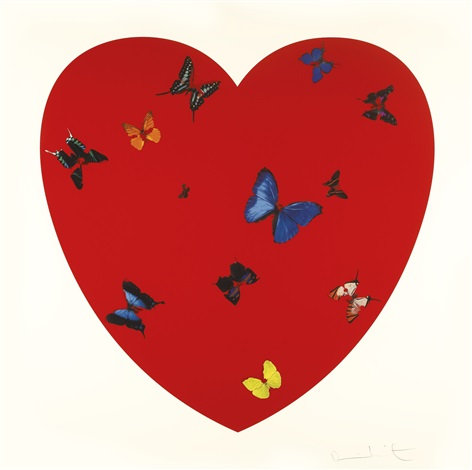 all you need is love love love by damien hirst