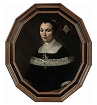 portrait of a lady in a black dress with lace details by johannes cornelisz verspronck
