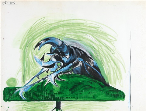 study for bestiare beetle by graham sutherland