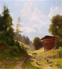 auf der alm by josef holzer