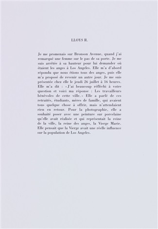 los angeles portfolio of 21 w text by sophie calle
