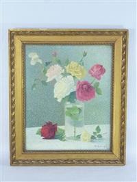 le vase de roses by achille laugé