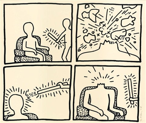 The blueprint drawings by keith haring on artnet the blueprint drawings by keith haring malvernweather Gallery