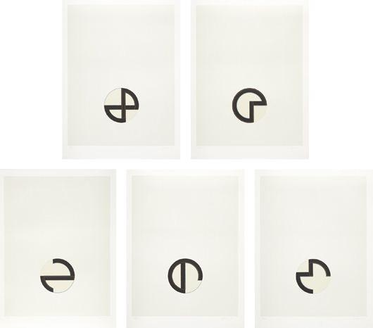 cardinations set of 5 by jo baer