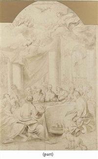 the last supper by paolo veronese