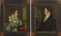 pair of portraits of a lady and gentleman by john sherburne blunt