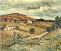 paysage près d'aix en provence by marcel dyf