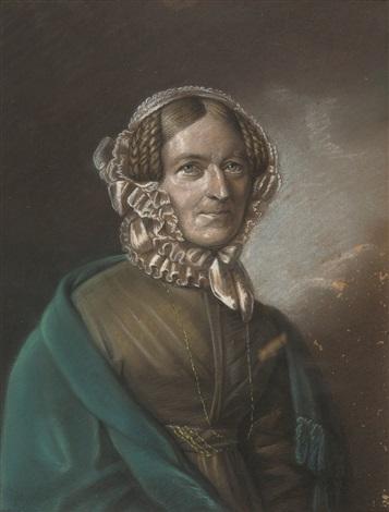 brustbild einer dame by franz krüger