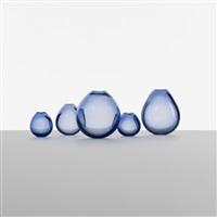 drop vases (set of 5) by per lutken