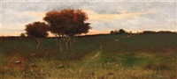 autumn sunset by arthur hoeber