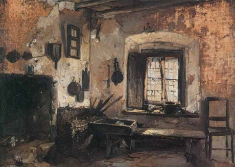 Interno di cucina rustica by Domenico Induno on artnet