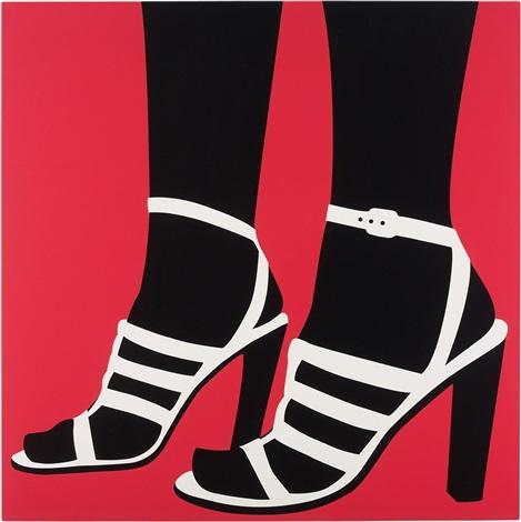 high heels pink by sarah morris