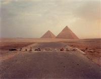 40 road blockade and pyramids by richard misrach