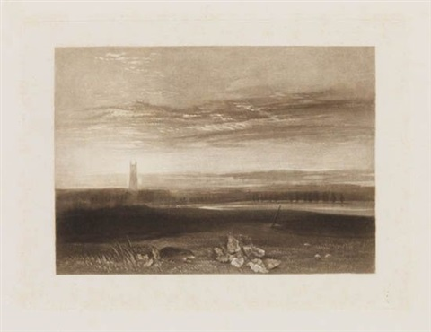 gloucester cathedral from the little liber studiorum by joseph mallord william turner