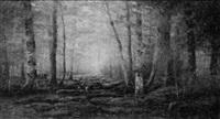 woodland scene by dubois fenelon hasbrouck