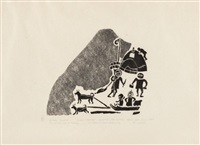the ancient way of hunting #41 by joe talirunili