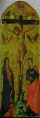 la crocifissione con la vergine e s giovanni evangelista by lorenzo veneziano