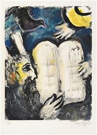 moses und die zehn gebote by marc chagall