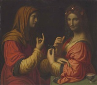 vanity and modesty by bernardino luini