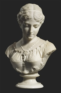 bust of evangeline by william couper