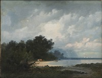 summer day at the bay by aleksandr vasil'evich gine