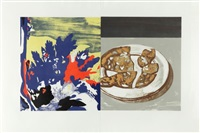 salami with landscape by david salle