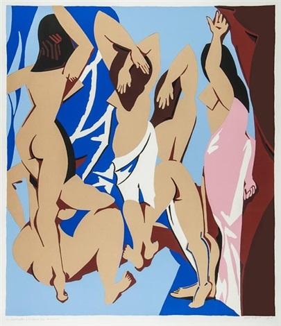 les demoiselles davignon vues de derrièr by patrick caulfield